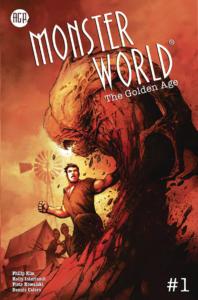 Monster World The Golden Age - okładka Nata Jonesa